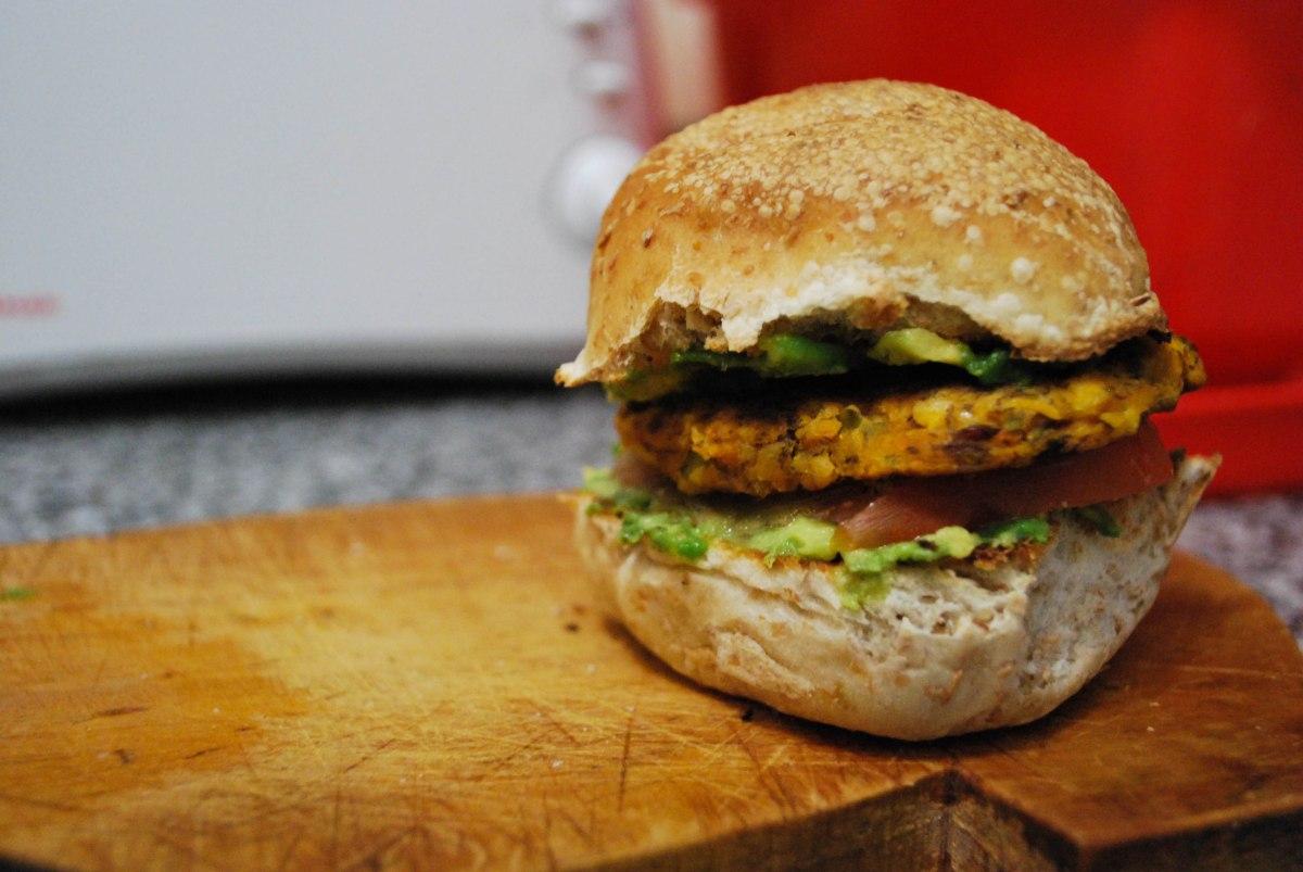 Cajun-Spiced Veggie Burgers