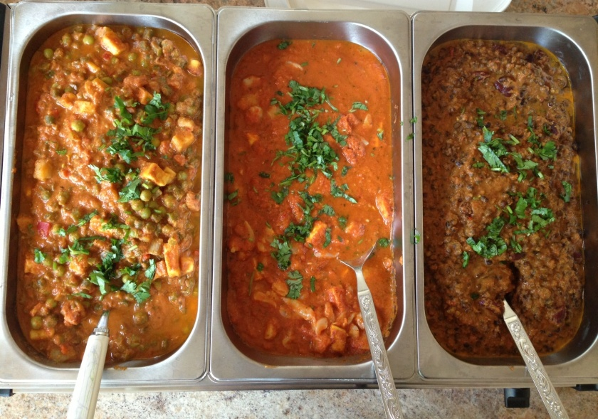Our menu had Navratan Korma, Lychee Paneer, and Dal Makhani!