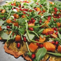 Caramelized Butternut Arugula Pizza