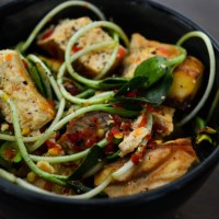 Sunflower Soba with Chili Baked Tofu