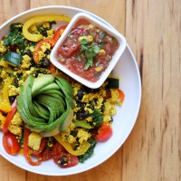 Vegan Tofu Scramble & 5-minute Roasted Corn Salsa | Breakfast Burritos!