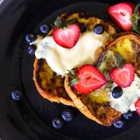 Golden Vegan French Toast