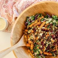 Cruciferous Superfood Slaw with Lemon-Tahini Dressing